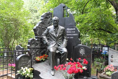Tombstone of Russian criminal authority Vyacheslav Ivankov