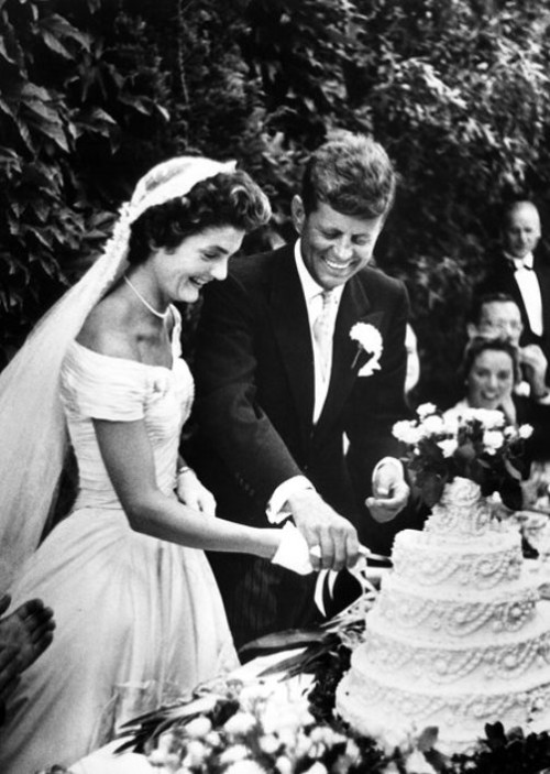 Jacqueline Kennedy on her wedding day, September 12, 1953