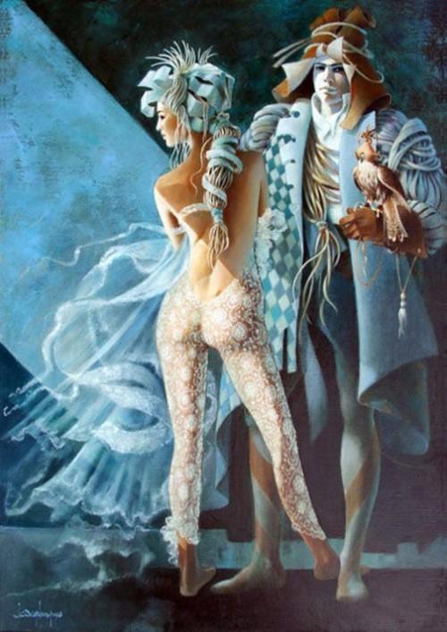 Fantastic paintings by Jean Claude Desplanques