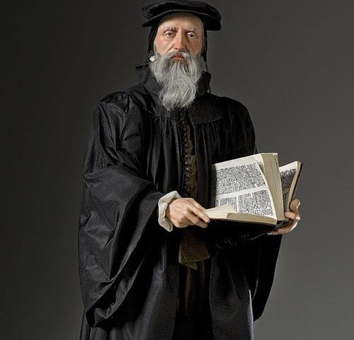 John Calvin. French Historical Figures by American artist George S. Stuart