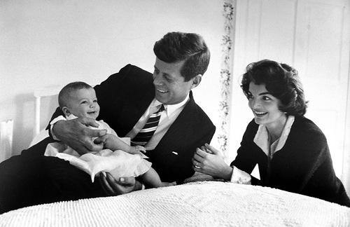 John F. And Jacqueline Kennedy With Baby Caroline Kennedy March 25, 1958