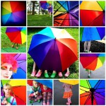 Collage of colorful photos