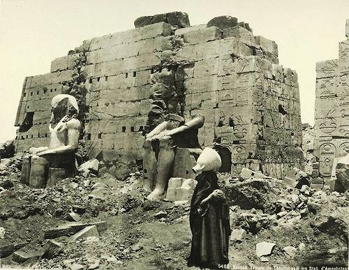 Karnak, Temple of Tuthmosis III. Egypt in retro photographs of 1870