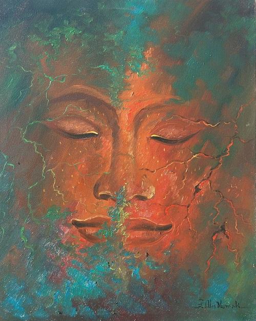Khmer art painting Hope face