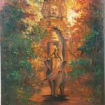 Temple in painting. The Bayon and Khmer art
