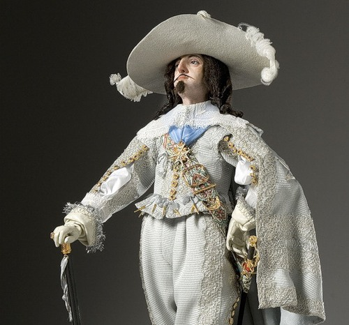 King Louis XIII. French Historical Figures by American artist George S. Stuart