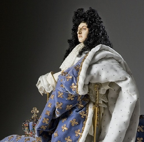 King Louis XIV (robes of state). French Historical Figures by American artist George S. Stuart