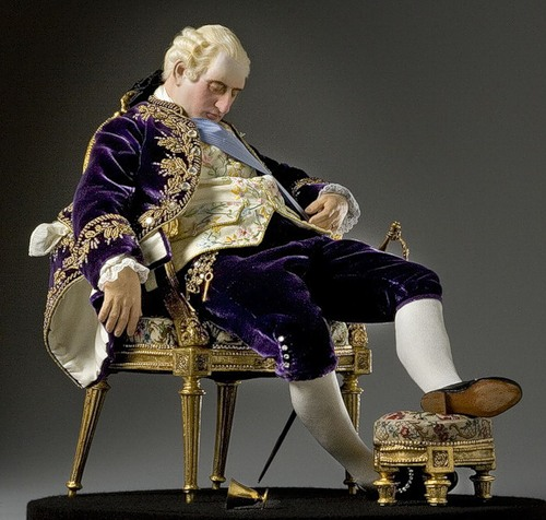 King Louis XVI 1780. French Historical Figures by American artist George S. Stuart