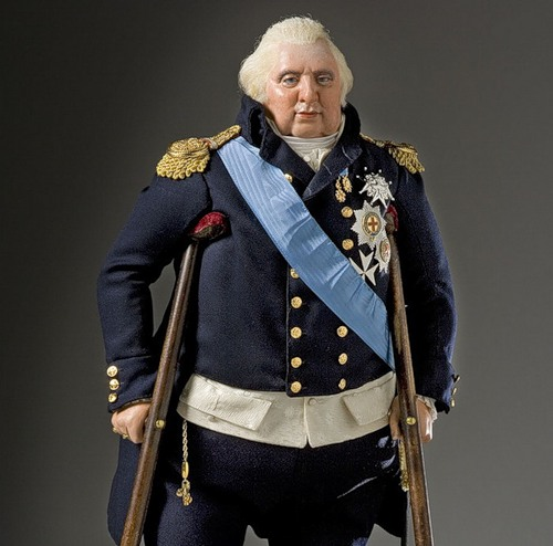 King Louis XVIII. French Historical Figures by American artist George S. Stuart