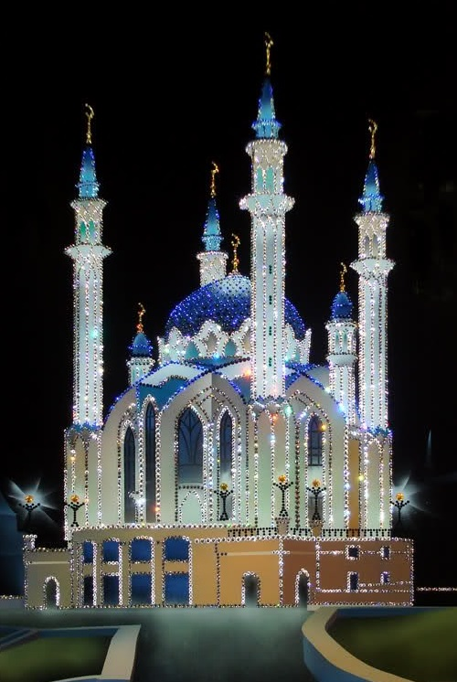 Kul Sharif mosque. Painting decorated with Swarovski Crystals