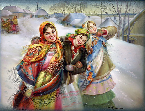 Traditional Russian miniature painting Fedoskino