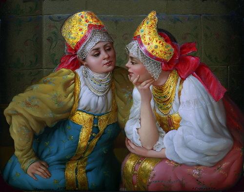 Traditional Russian miniature painting Fedoskino