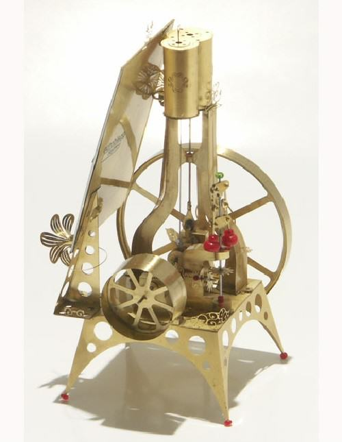 Last year Szymon built four miniature Victorian steam engines, complete with electric motor