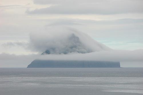 Lonely uninhabited island Litla Dimun
