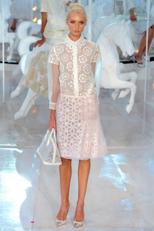 Louis Vuitton ready-to-wear SS 2012 show during Paris Fashion Week