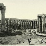 Luxor colonnade. Egypt in retro photographs of 1870