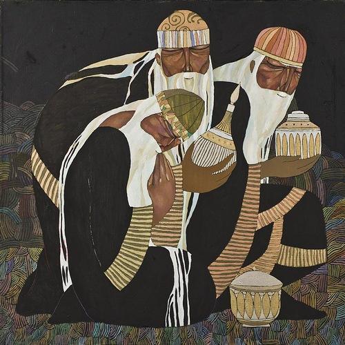 Magi. Painting by Akzhana Abdaliyeva, talented young artist from Kazakhstan