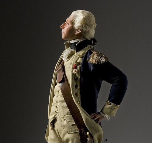 Marquis de Lafayette. French Historical Figures by American artist George S. Stuart