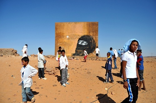Street art in the Sahara desert