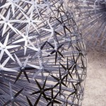 Metal and glass sculpture by British artist Ruth Moilliet