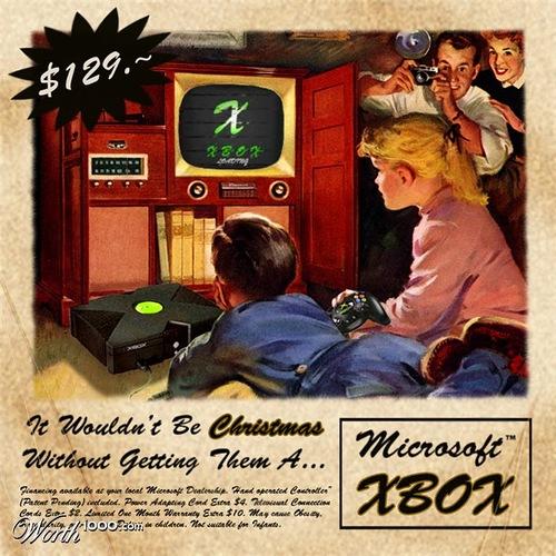 Microsoft Xbox. Absurd Vintage Ads