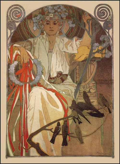 Mucha Poster for The Spring Festival of Song & Music in Prague, 1914