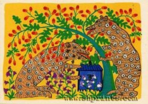 Naive art by Maria Prymachenko, Ukrainian village folk art painter