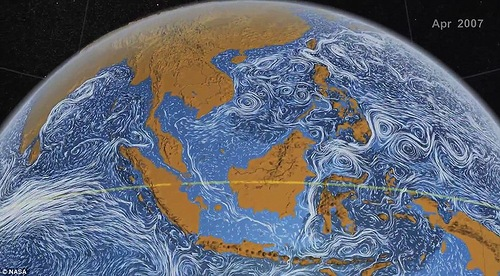 NASA's model of ocean currents looks like The Starry Night