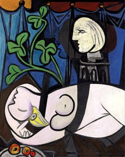 Nude, Green Leaves and Bust by Spanish artist Pablo Picasso $110.1
