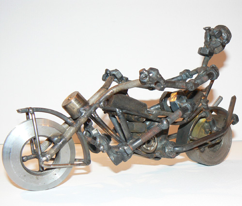 Nuts and bolts sculpture by Siberian artist Aleksey Petrov