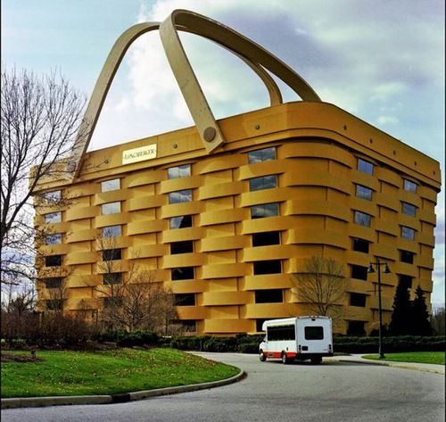 Office Longaberger basket company ('Trash Longaberger') in Newark, Ohio