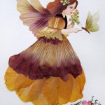 Pressed flower craft Oshibana by Ukrainian artist-florist Tatiana Berdnik