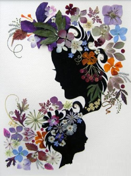 Oshibana art by Tatiana Berdnik