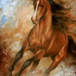Beautiful horse. Painting by Russian artist Arthur Braginsky