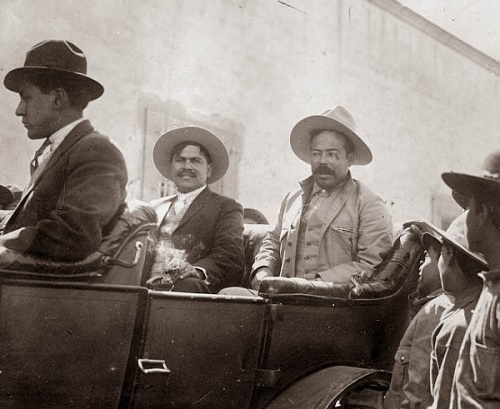 Pancho Villa (right)