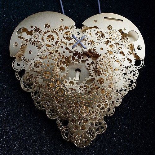 Filigree Paper Heart by Dutch designer Frank Tjepkema