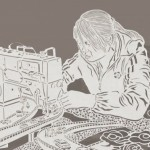 """Detail of """"Sewing machine"""" Paper cut art by Chinese artist Bovey Lee"""