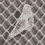 Caged bird. Paper art by Chinese artist Bovey Lee