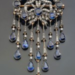 """Brooch of gold with diamonds, amethysts and jasper. Beautiful jewelry by St. Petersburg true style """"Catherine Kostrigina"""""""