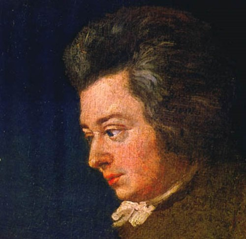 Portrait of Mozart by his brother-in-law Joseph Lange