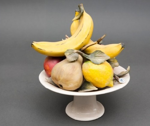 Pretty cup of fruit. Capodimonte Finest Porcelain from Italy