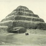 Pyramid of Saqqara. Egypt in retro photographs of 1870