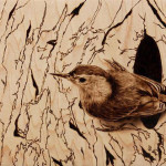 Pyrography art by Julie Bender
