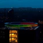 Stunning Rainbow Panorama - installation created by Olafur Eliasson