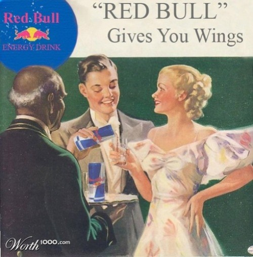 Red Bull gives you wings. Absurd Vintage Ads