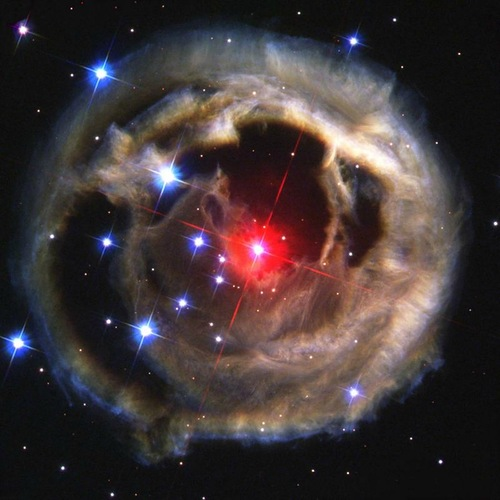 Red super giant. Hunting for Galaxies