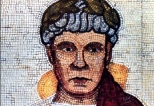 Roman emperor Claudius, mosaic