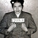 Arrested for refusing to give up her seat to a white man Rosa Parks