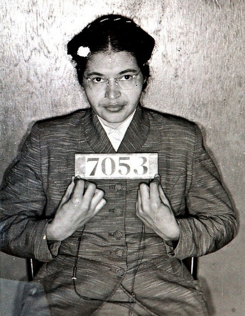 Rosa Parks - History in photography Black and white