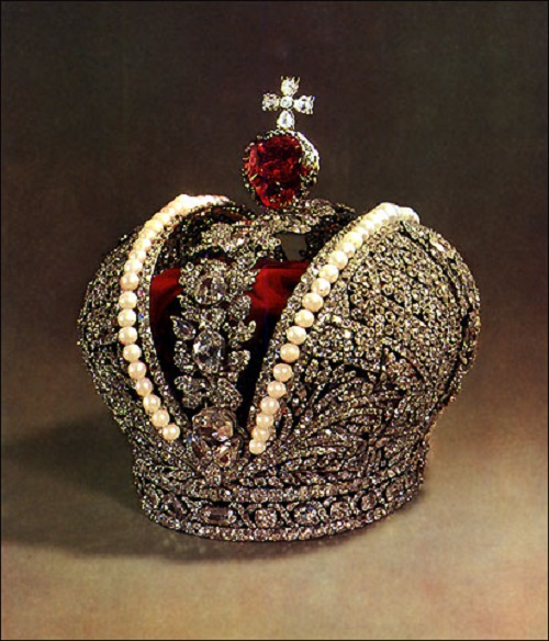 Russian Imperial Crown decorated with most famous pearls